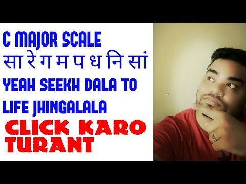 Basic Guitar lesson 4 in Hindi c major scale.