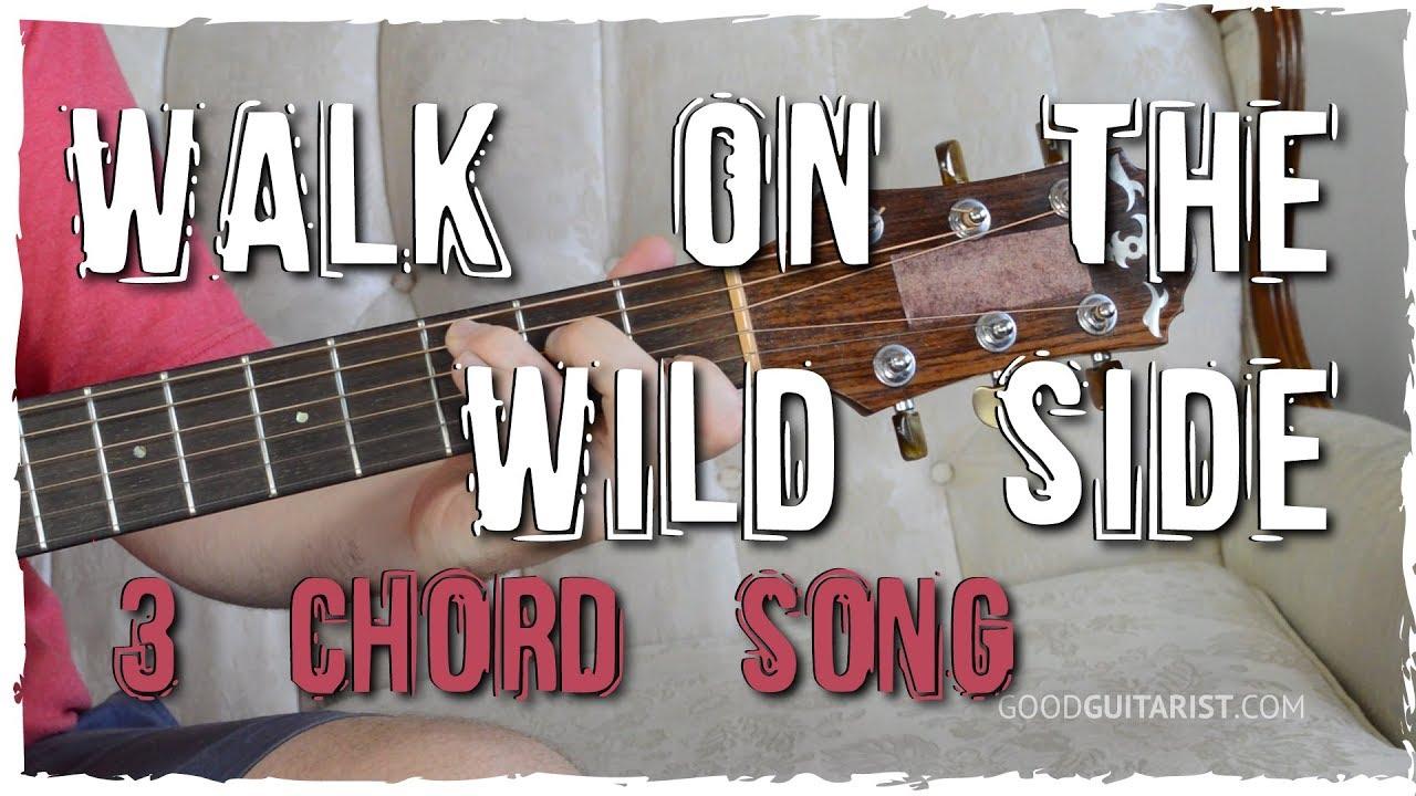 Walk On The Wild Side Guitar Tutorial Easy Chord Melody 3