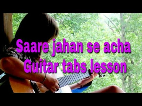 Saare jahan se acha hindustan hamara | Guitar tabs lesson for beginners in hindi |