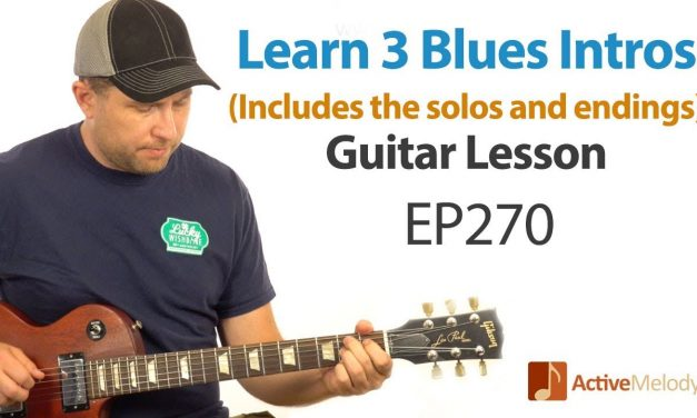 Learn how to START a blues song on guitar. 3 classic blues intros and lead in this lesson – EP270
