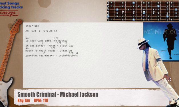 Smooth Criminal – Michael Jackson Guitar Backing Track with chords and lyrics