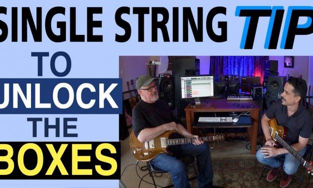Fretboard Mastery   Single String Tip   Guitar Lesson   Pentatonic Box   Corey Congilio   Tim Pierce