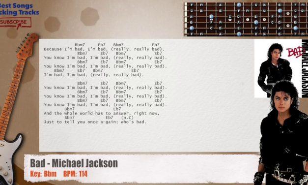Bad – Michael Jackson Guitar Backing Track with chords and lyrics