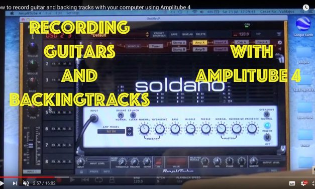 How to record guitar and backing tracks with your computer using Amplitube 4