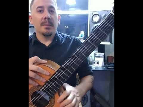 60 second guitar lesson, B minor with a B harmonic minor scale.