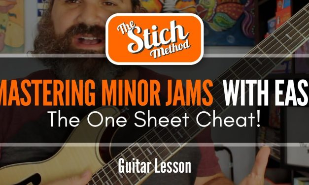 The Minor Guitar Jam Cheat Sheet. Pentatonic and Arpeggio Mastery
