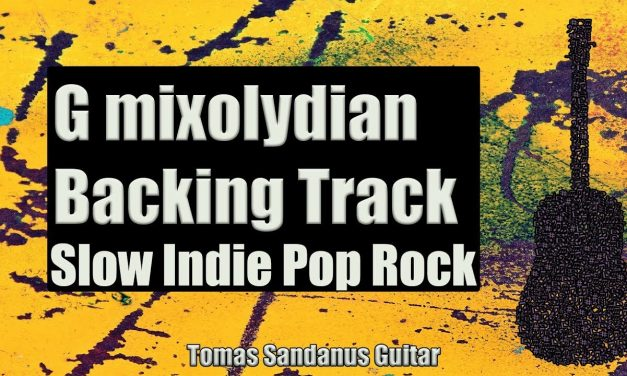 G mixolydian Backing Track – Slow Indie Pop Rock Guitar Backtrack – Chords – Scale – BPM
