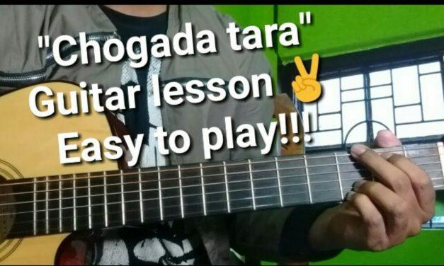 """Chogada Tara"" Guitar lesson,chords, strumming,cover,easy beginner (complete)."