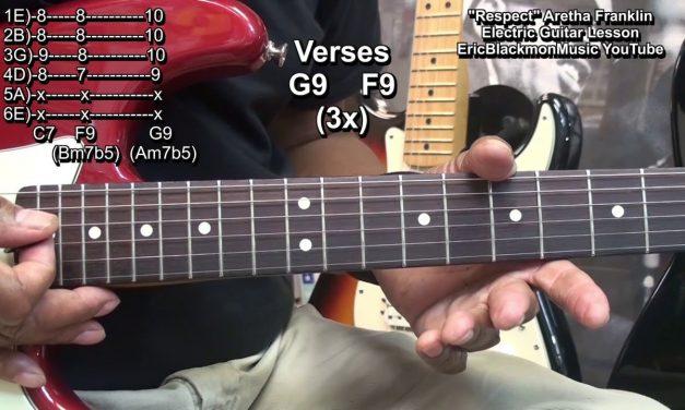RESPECT Aretha Franklin Dedication Guitar Lesson FunkGuitarGuru R&B