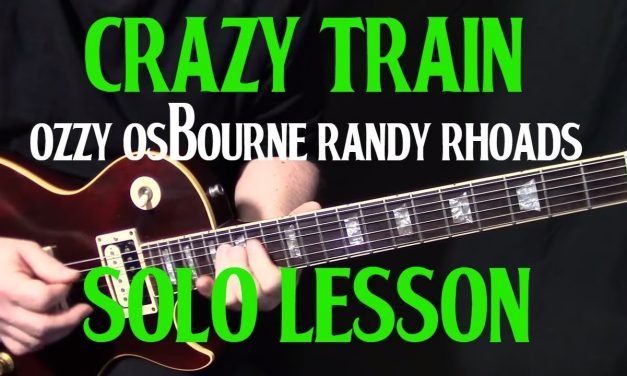"how to play ""Crazy Train"" by Ozzy Ozbourne Randy Rhoads – guitar solo lesson"