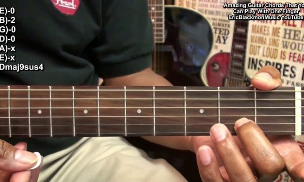 50 One Finger Guitar Chords In 6 Minutes Amazingly Easy EricBlackmonGuitar HD