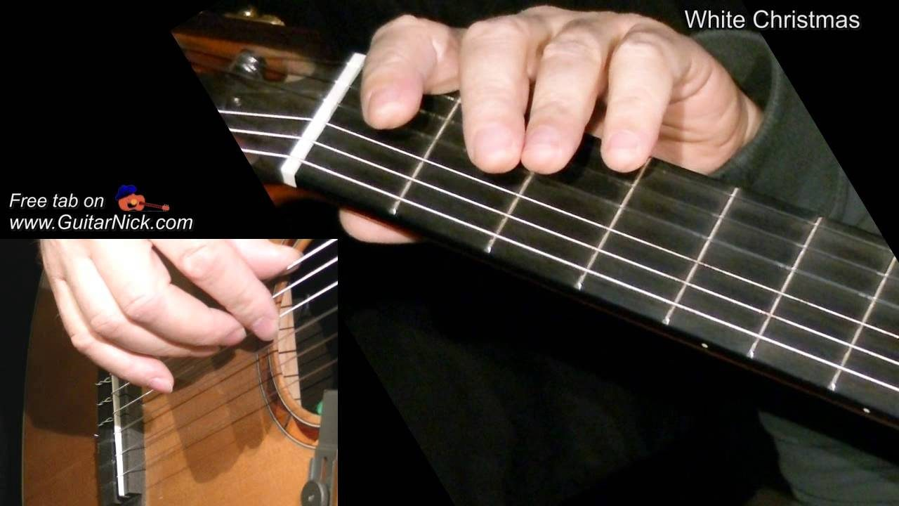 White Christmas Easy Guitar Lesson Tab Chords By Guitarnick