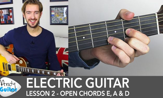 Electric Guitar Lesson 2 – EASY Riff with Open Chords