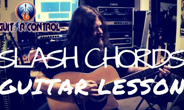 Acoustic Guitar Lesson On Slash Chords For Beginners