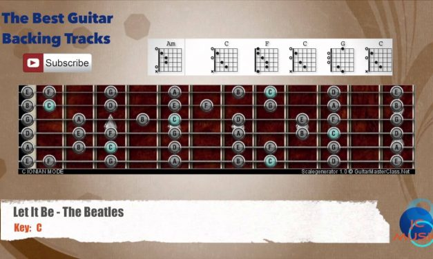 Let it Be – The Beatles Guitar Backing Track with scale chart and chords