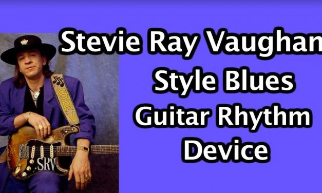 Stevie Ray Vaughan Blues style rhythm device: blues rock guitar lesson
