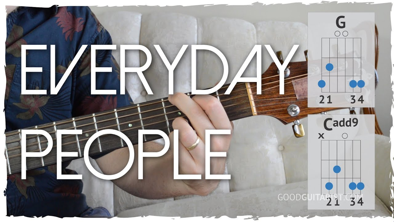 Everyday People Guitar Tutorial 2 Chord Song Sly And The