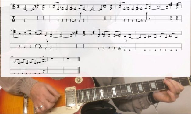 "Riff (ROCK/BLUES) Lesson + ""fast"" guitar lick (in A)"