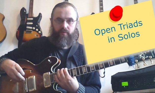 Open Triads in solos – Spread Triad Guitar Lesson