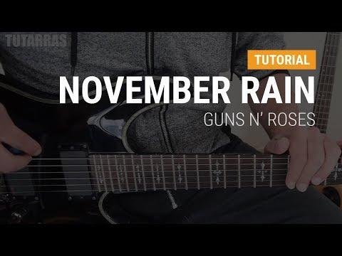 November Rain by Guns n Roses COMPLETE GUITAR LESSON TUTORIAL