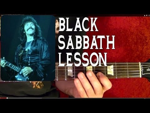 Black Sabbath 🔷BLACK SABBATH 🔷 Guitar Lesson