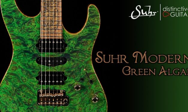 Suhr Modern Set Neck Custom | Green Algae & Black Limba