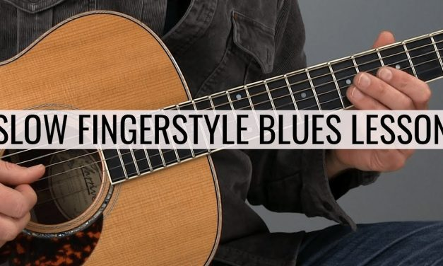 Slow Fingerstyle Blues Guitar Lesson