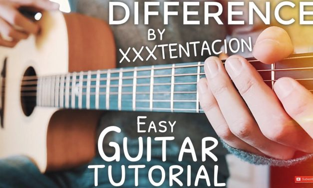 Difference XXXTENTACION Guitar Tutorial // Difference Guitar // Guitar Lesson #616