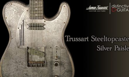 Trussart SteelTopCaster | Antique Silver Paisley