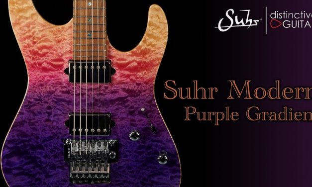 Suhr Modern Custom | Purple Gradient Quilt w/ Floyd Rose