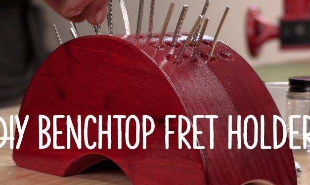 Guitar bench fret holder: easy DIY gift