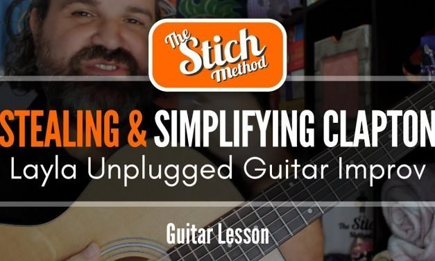 Stealing And Simplifying Clapton : Layla Unplugged Guitar Solo Improvisation