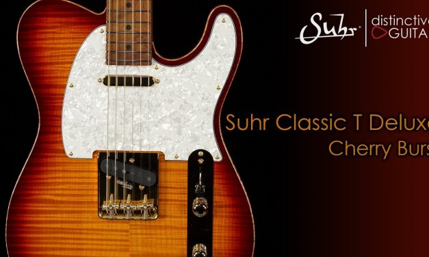 Suhr Classic T Deluxe   Aged Cherry Burst Flame w/ Roasted Birdseye Neck