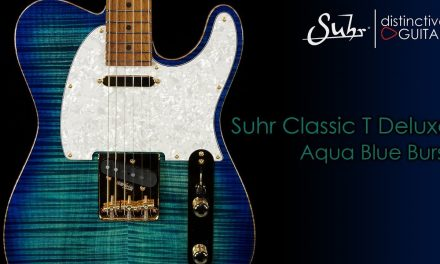 Suhr Classic T Deluxe | Aqua Blue Burst Flame w/ Roasted Birdseye Neck