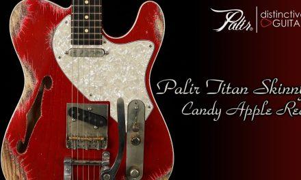 Palir Titan Skinny | Candy Apple Red Thinline w/ Bigsby