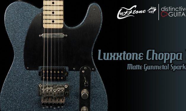Luxxtone Choppa T   Matte Gunmetal Blue Sparkle