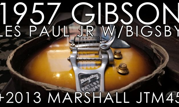 """""""Pick of the Day"""" – 1957 Gibson Les Paul Junior w/Bigsby and 2013 Marshall JTM45 Reissue"""