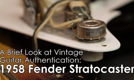 Vintage Guitar Authentication: 1958 Fender Stratocaster