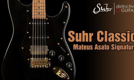 Suhr Classic Mateus Asato Signature Series Guitar | Black & Gold