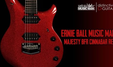 Ernie Ball Music Man Majesty BFR Guitar | Cinnabar Red Sparkle Limited Edition