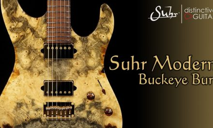 Suhr Modern Set Neck Custom | Buckeye Burl Top & Cocobolo Neck