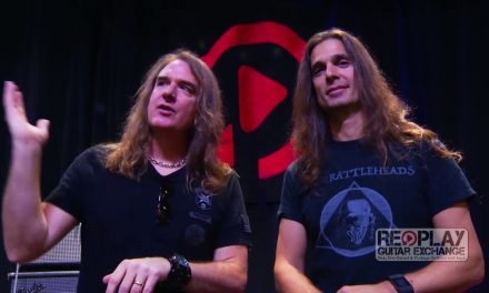 David Ellefson & Kiko Loureiro for Replay Guitar Exchange