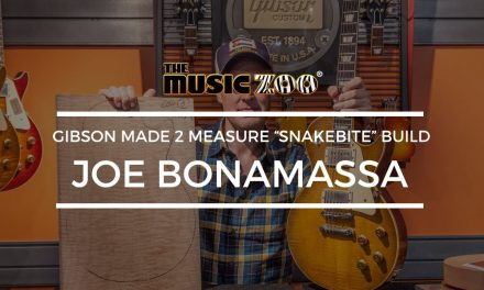 "Joe Bonamassa Gibson Made 2 Measure ""Snakebite"" Build At The Music Zoo"