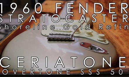 1960 Fender Stratocaster Shoreline Gold Refin and Ceriatone Overtone SSS 50