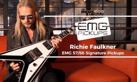 Richie Faulkner of Judas Priest Signature EMG 57/66 at The Music Zoo