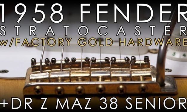 """""""Pick of the Day"""" – 1958 Fender Stratocaster w/Factory Gold Hardware and Dr Z Maz 38 Senior"""