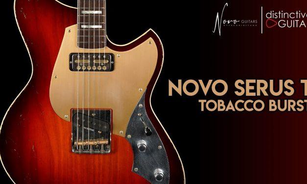 Novo Serus T   Tobacco Burst w/ Tele Bridge & Gold Foil Neck