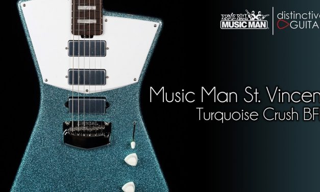 Ernie Ball Music Man St. Vincent Signature | Turquoise Crush BFR Limited Edition