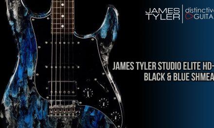 James Tyler Studio Elite HD-P | Black and Blue Shmear HSS