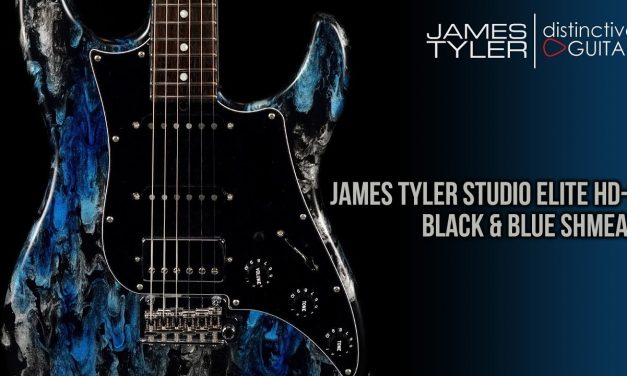 James Tyler Studio Elite HD-P | Black and Blue Shmear HSS